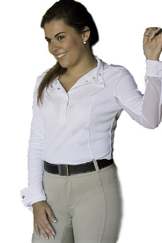 FITS Silk Touch Shade Show Shirt Basic, White, X-Small
