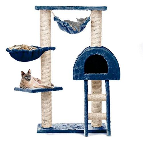 Kratzbaum Katzenbaum CAT018 Mittelhoch 100 cm Blau