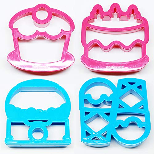 Lunch Punch Sweet Set. Sweet Shaped Sandwich Cutters (Set of 4) by LunchPunch ()