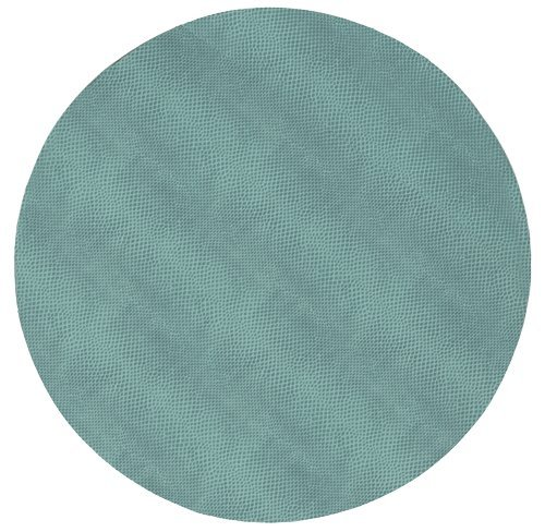 Round Placemats Table Mats Wipe Off Faux Blue Leather Pk 6