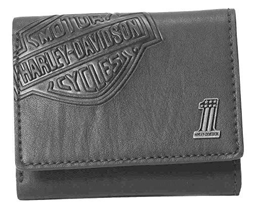 Harley Davidson Shield Classic Trifold CR2352L Black product image