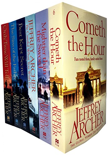 Jeffrey Archer Clifton Chronicles Series 6 Books Collection Set (Only Time Will Tell, Best Kept Secret, The Sins of the Father, Cometh the Hour, Mightier than the Sword, Be Careful What You Wish For) (Jeffrey Archer Clifton Chronicles Mightier Than The Sword)