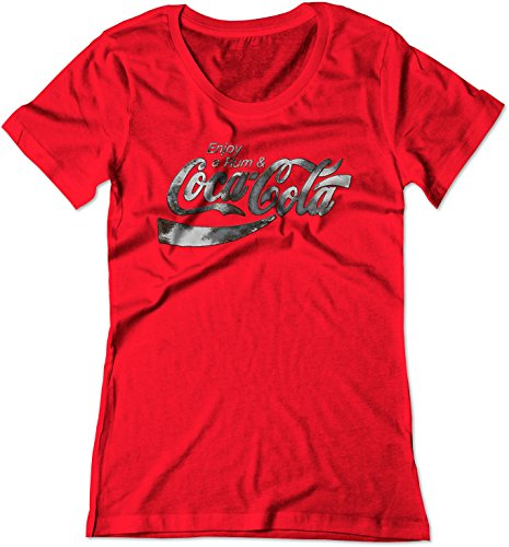 BSW Women's Enjoy Rum & Coca-Cola Coke Pop Soda Drink Booze Shirt MED Red (Sweet Rum Drinks)