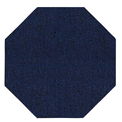 Ambiant Broadway Collection Pet Friendly Indoor Outdoor Area Rugs Navy - 6' Octagon ()