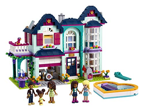 LEGO Friends Andrea's Family House 41449 Building Kit; Mini-Doll Playset is Great Gift for Creative 6-Year-Old Kids, New 2021 (802 Pieces)