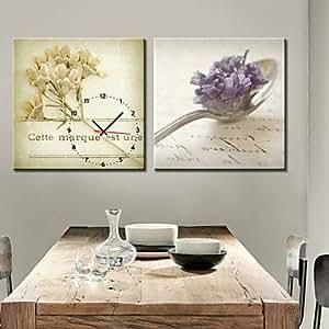 VV modern/contemporary reloj de pared lienzo 40,64 cm x 40,64 cm, 50,8 cm x 50,8 cm, 60,96 cm x 60,96 cm