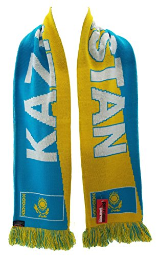 World Cup Soccer Kazakhstan Scarf, Blue, One Size