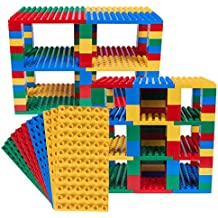Strictly Briks Classic Big Briks 96 Piece Set by 100% Compatible with All Major Brands   Tower Construction   Large Pegs for Toddlers   Ages 3+   Building Bricks & Baseplates   Basic Colors