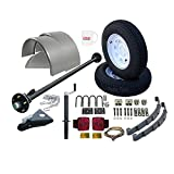single axle utility trailers - Utility Trailer Parts Kit 3500 lb, Single Axle Trailer 5' Wide, Model T1108 (Deluxe)