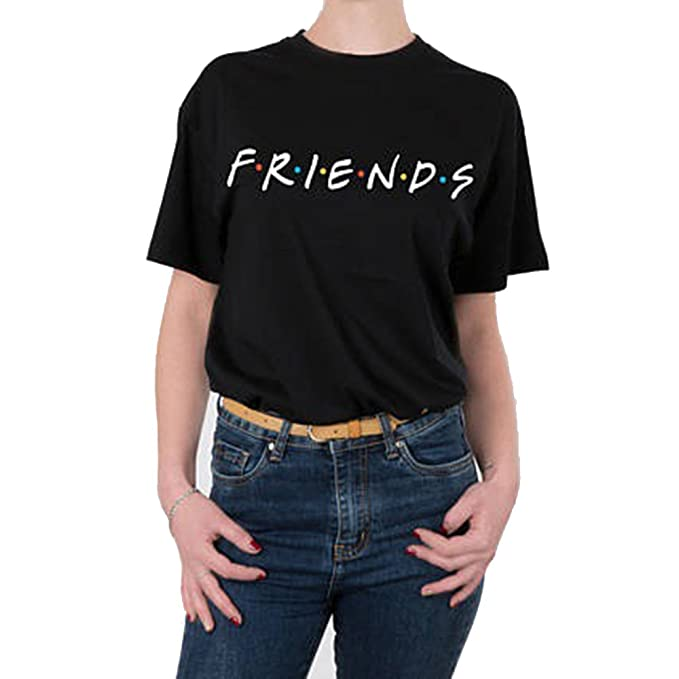 25e41415b Women Friends TV Show T-Shirt Summer Casual Short Sleeve Top Graphic Tee:  Amazon.ca: Clothing & Accessories