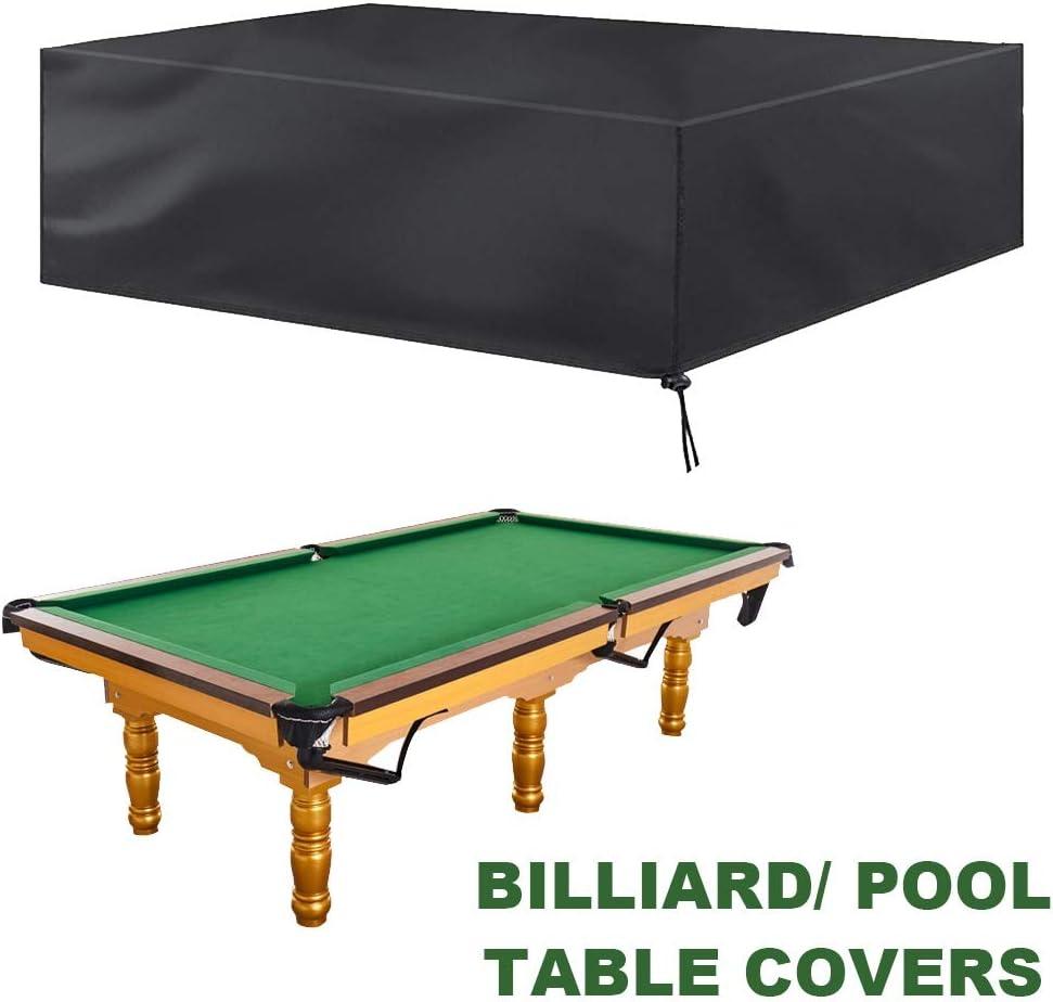 SJMDZZ 7FT / 8FT / 9FT Cubierta de Mesa de Billar/Snooker Cubierta de Protección para Muebles de Jardín Impermeable/Prueba de Viento/Prueba de Polvo/Prueba de Lluvia, con Bolsa de Almacenamiento: Amazon.es: Hogar