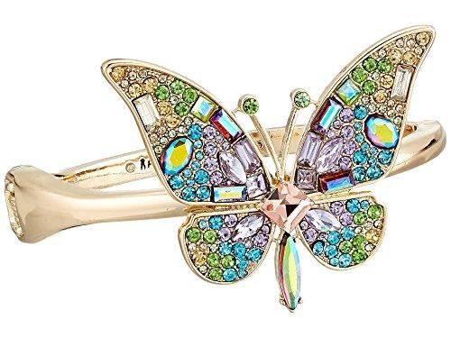 Betsey Johnson Women's Blooming Butterfly Statement Bracelet Multi One Size