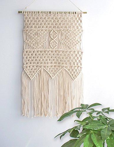 "Macrame Wall Hanging Tapestry - BOHO Chic Home Decorative Interior Wall Decor - Bohemian Ethnic Apartment Dorm Room Art Decor - Living Room Bedroom Decorations, 13.0""W x 23.6""L"