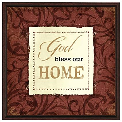 Amazon.com - God Bless Our Home Wood Frame Plaque with Easel ...