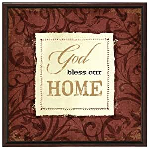God Bless Our Home Wood Frame Plaque With Easel Decorative Plaques