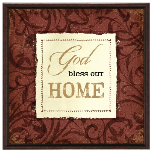 God Bless Our Home Wood Frame Plaque with Easel