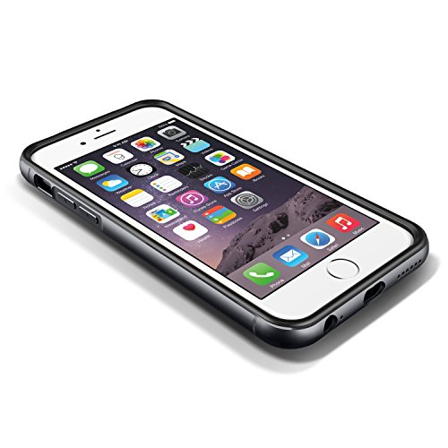 Verus iron premium bumper avec protection et aux chocs pour apple iPhone 6 noir/titane)