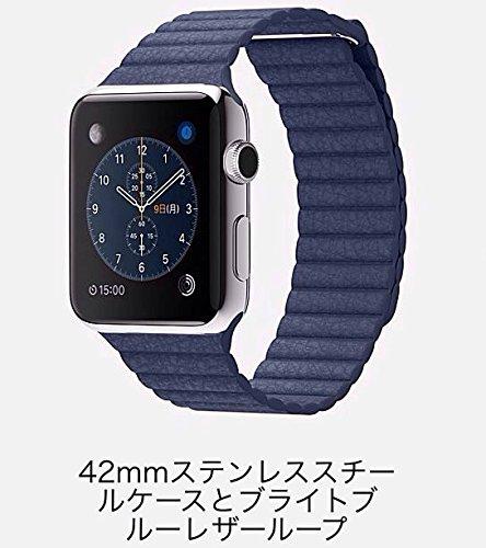 Apple Watch 42mm Lサイズ MJ462J/A [ブライトブルーレザーループ]