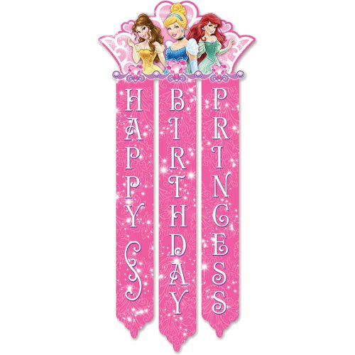Princess Birthday Banner Birthday and Holiday Party Supplies -
