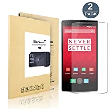 [2 pack] OnePlus 1 Screen Protector, EasyULT Premium Tempered Glass Screen Protector,with Double Defense Technology with [2.5D Round Edge] [9H Hardness] [Crystal Clear] [Scratch Resist] [No-Bubble]