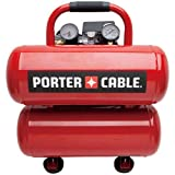 Porter-Cable PCFP02040R 1.1 HP 4 Gallon Oil-Lube Twinstack Air Compressor (Certified Refurbished)