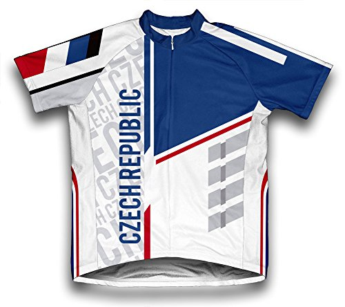ScudoPro Czech Republic Short Sleeve Cycling Jersey for Men - Size 3XL