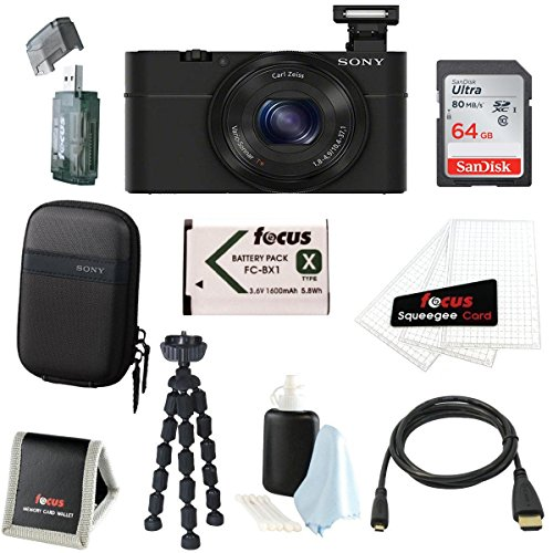 Sony Cyber-shot DSC-RX100 Digital Camera with 10-Inch Spider