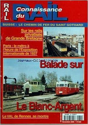 Connaissance du Rail n°230 Blanc-Argen Metro Paris 1937