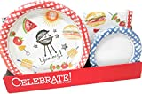 Creative Converting Disposable Plates and Napkins Summer Barbecue BBQ Celebration Set, Serves 50 (200 Piece Set)