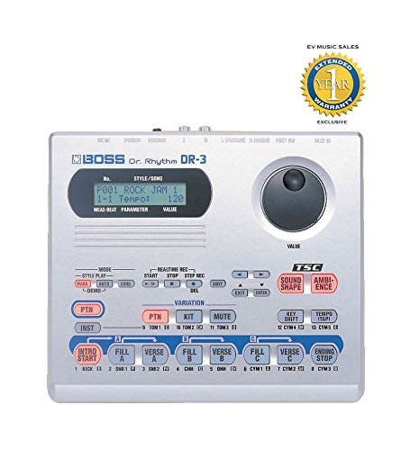 Boss DR-3 DR. RHYTHM Drum Machine with 1 Year Free Extended Warranty by BOSS