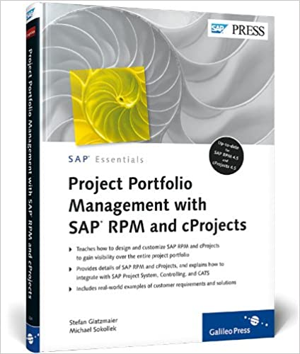 project portfolio management with sap rpm and cprojects sap press