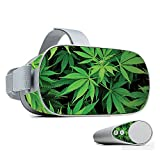 MightySkins Skin Compatible with Oculus Go Mobile VR - Weed | Protective, Durable, and Unique Vinyl Decal wrap Cover | Easy to Apply, Remove, and Change Styles | Made in The USA