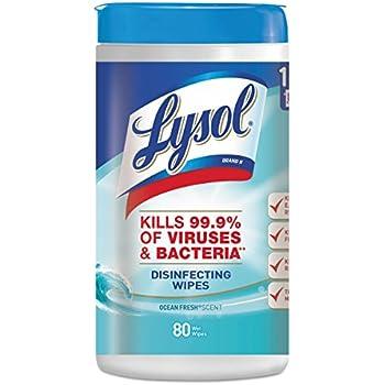 Lysol Disinfecting Wipes, Ocean Fresh, 480ct (6X80ct)