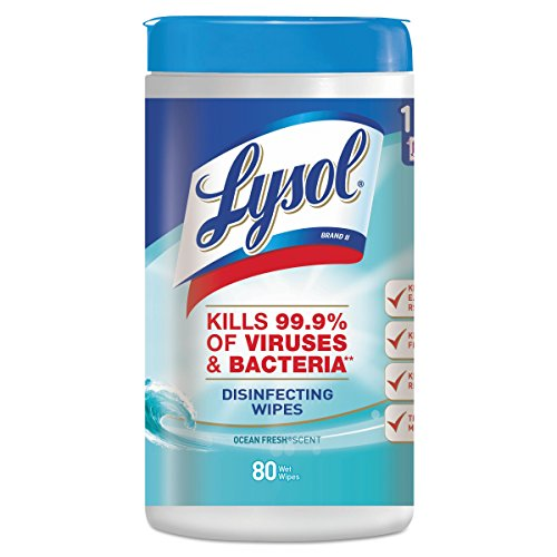 - LYSOL Brand 77925CT Ocean Fresh Scent Disinfecting Wipes, 7