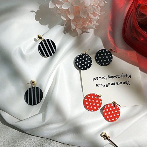 Eyebrows jewelry temperament Korean wave point sweet spot stripe fashion earrings drip earrings wafer (Stripe Eyebrow Ring)