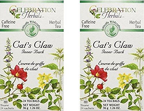 Celebration Herbals Cats Claw Inner Bark, 48 Herbal Tea Bags (2 packs of 24) ()
