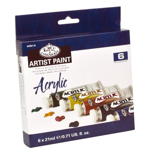 - Royal & Langnickel Acrylic Color Artist Tube Paint, 21ml, 6-Pack