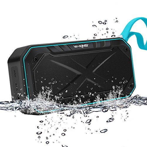 Waterproof Speaker, ELEGIANT Portable Bluetooth Speaker IPX 7 Waterproof 5W Driver Booming Bass Shockproof speaker with Mic FM Radio(12 Hours Play Time) for iPhone iPad Android, Shower/Outdoors