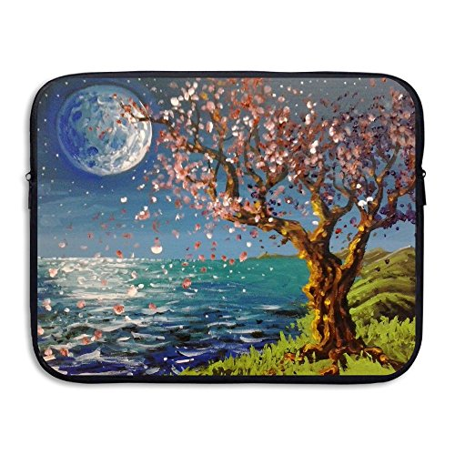 Seaside Cherry Blossoms Water Repellent Laptop Case Bags Printed Ultrabook Briefcase Sleeve Bags Cover For Macbook Pro/Notebook/Acer/Asus/Lenovo Dell 15 - Creek Center Cherry