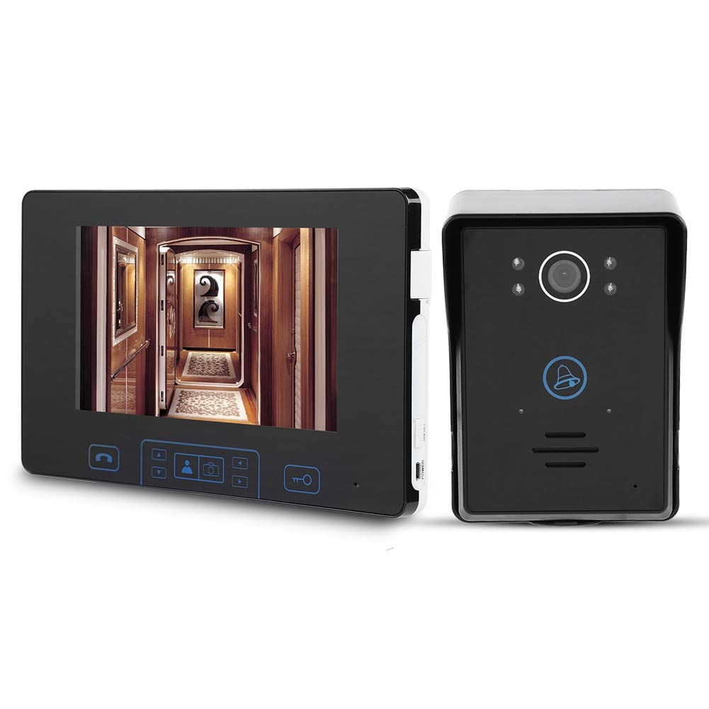 100-240v Garsent Spioncino Digitale Pulsante a sfioramento Videocitofono Intelligente con Impermeabile Visore Notturno Monitor da 7 Pollici Videocitofono Senza Fili Campanello Sistema per casa.