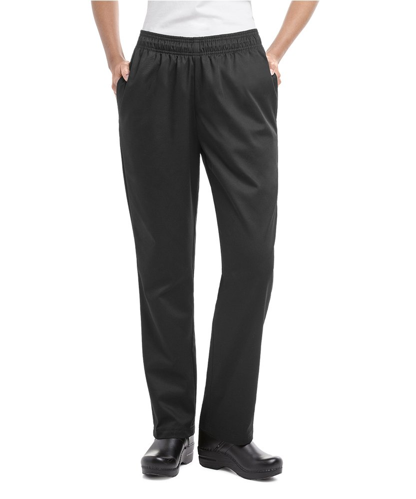 Womens Black Essential Chef Pant (Small) by ChefUniforms.com