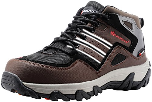 MODYF Mens Steel Toe Work Safety Shoes Outdoor Hiking Boots
