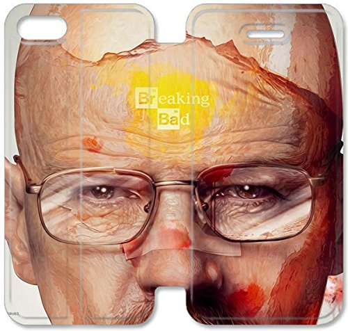 Funda iPhone 4S Funda de cuero [Buen regalo bonito regalo] [Breakingbadwalterwhite formini] [Card/Cash Slots] Protectora caja del teléfono para iPhone 4S P5B2LI