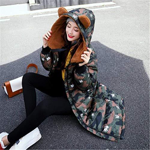 Capuche Doudoune Battercake A Parker Manches Chic Gaine Femme Moderne Impression Avec Style Poches Manteau Café Fermeture Hiver Avant Longues Éclair Mode YdXdqr