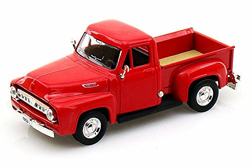 1953 Ford Pickup Truck, Red - Yatming 94204 - 1/43 Scale Diecast Model Toy (43 Red Diecast Model)