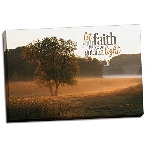 Gango Home Decor Contemporary Let Faith Be Your Guiding Light by Norlien Fine Art (Ready to Hang); One 18x12in Hand-Stretched Canvas by Gango Home Decor