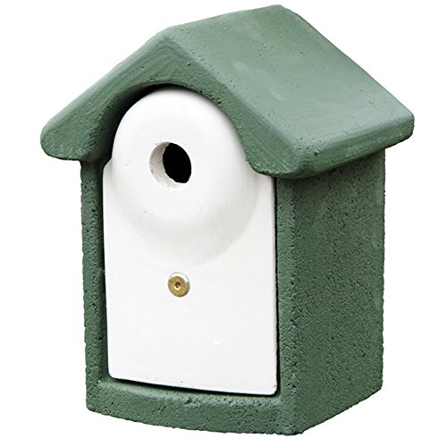 C J WoodStone Durable Nest Box (1.2in) (Green) by C J Wildbird Foods Limited