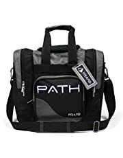 Pyramid Path Pro Deluxe Single Bowling Ball Tote Bowling Bag - Holds One Bowling Ball, One Pair of Bowling Shoes Up to Mens 15 Shoes and Accessories