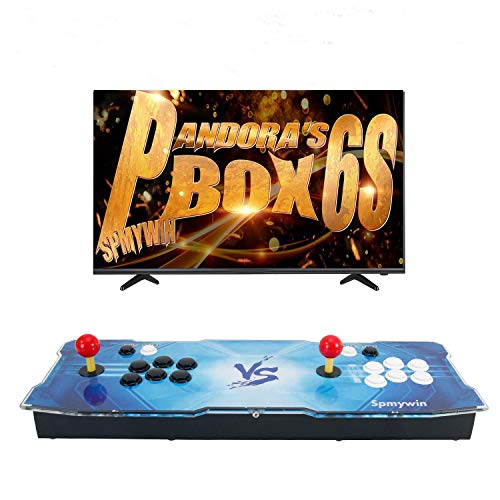 Spmywin 2020 HD Retro Arcade Video Game Console Pandoras Box 6S Arcade Machine Newest System 1280x720 Full HD Advanced CPU Support PS3 2 Player Arcade Joystick ()