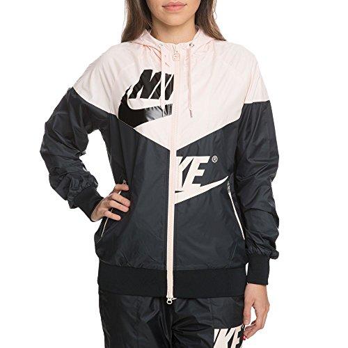 Nike Womens W Nsw Wr Jkt Gx Aj2974 Grigio Medio / Blu Infradito / Argento Opaco